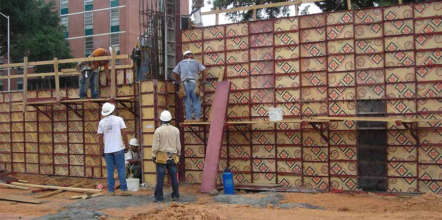 Steel Concrete Forms : Steel ply form system by trekker group forming shoring us