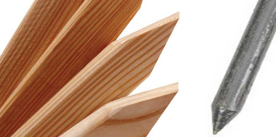 Stakes (Wood & Metal)