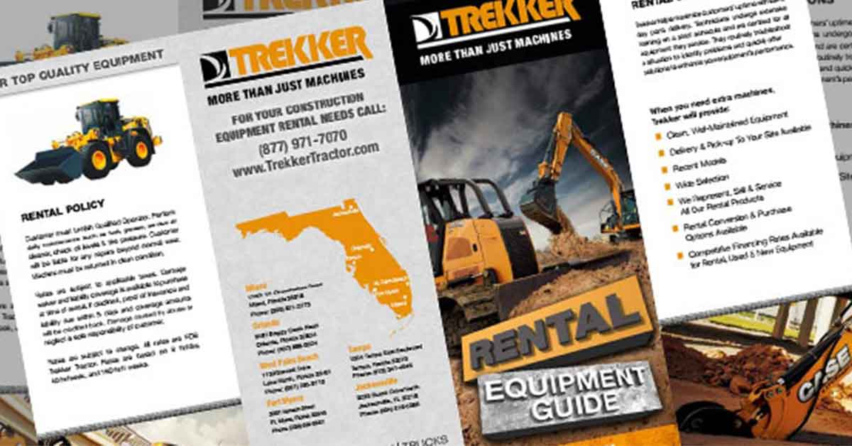 Trekker Heavy and Light Equipment Rental Brochure