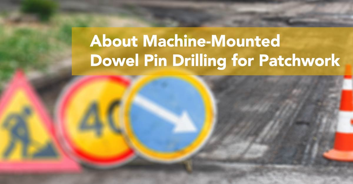 About Machine-Mounted Dowel Pin Drilling for Patchwork