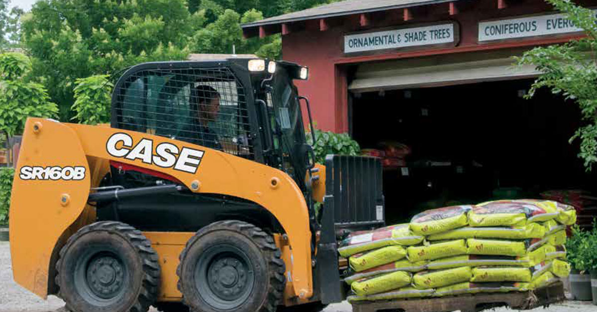CASE B Series Skid Steers and CTLs for Landscaping Applications